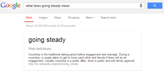 what is going steady mean