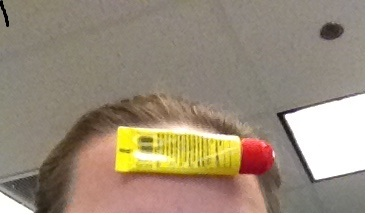 Untapped talent right here folks...Carmex on my head, just hangin' out...