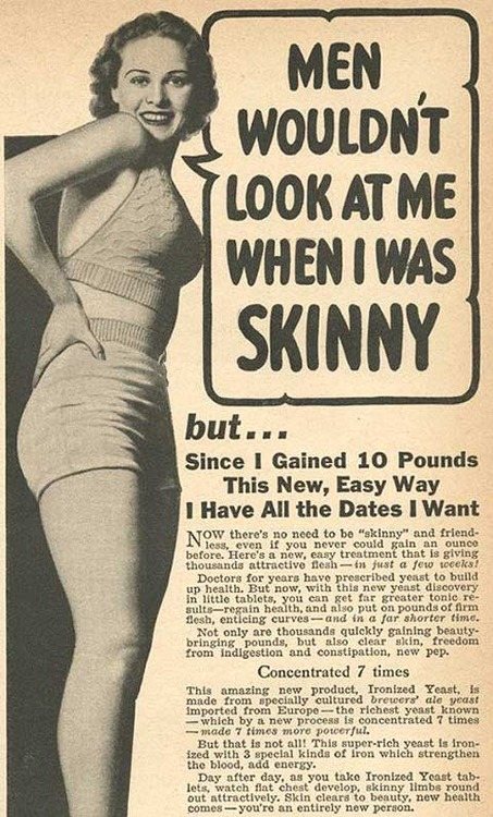 Holy shit! At one time it was actually okay to have curves!